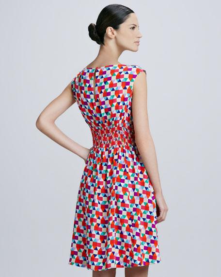blaire tile-print dress