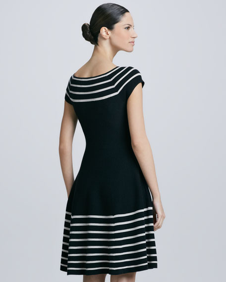 amaila fit-and-flare sweater dress, black