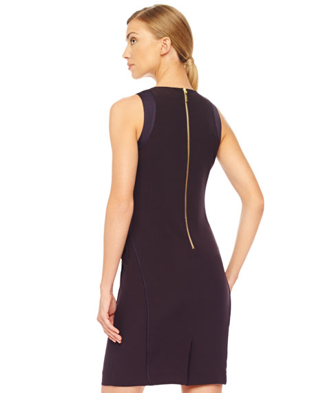 Fitted Raised-Seam Dress