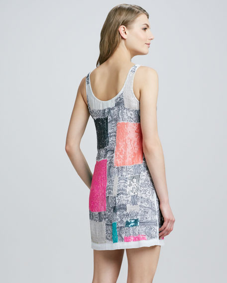 Mixed Media Sequined Dress