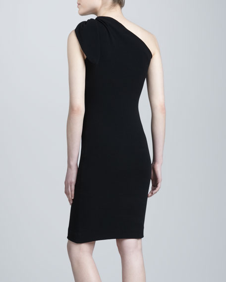 Super-Stretch Crepe Dress, Onyx