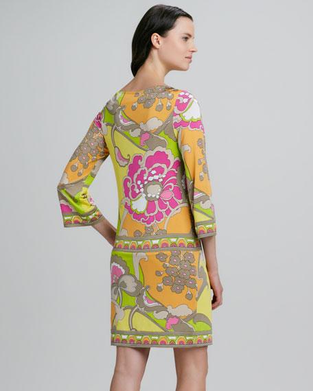 Dusk Floral-Print Shift Dress