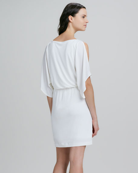 Dazy Cold-Shoulder Tie-Waist Dress