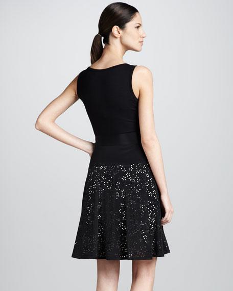 Sleeveless V-Neck System Dress