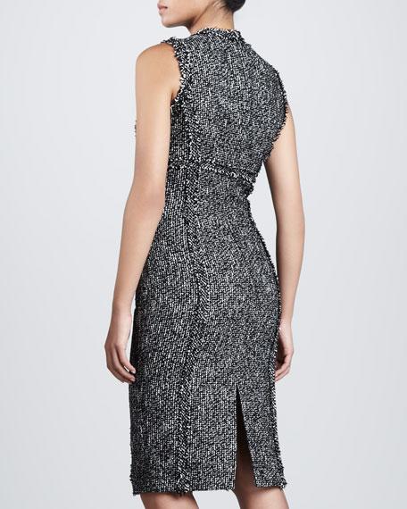 Tweed Princess-Seam Sheath Dress