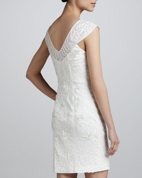 Cap-Sleeve Short Dress