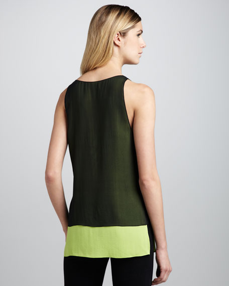 Double-Layer Silk Tank