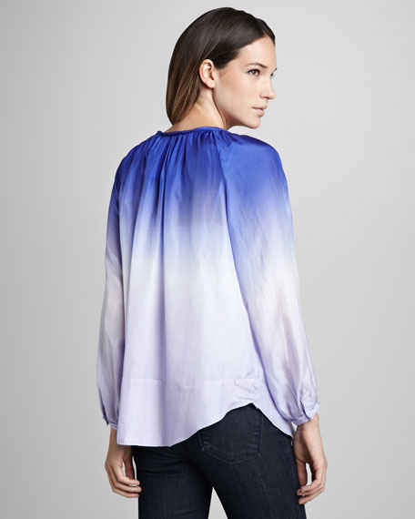 Ang Ombre Tie-Neck Blouse