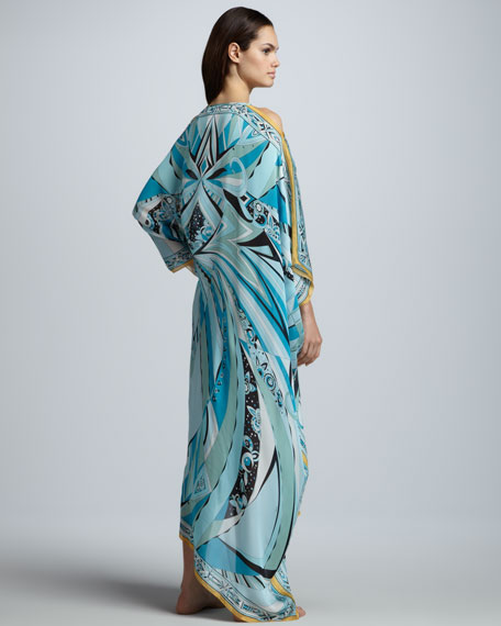 Chicago Printed Caftan Maxi Coverup