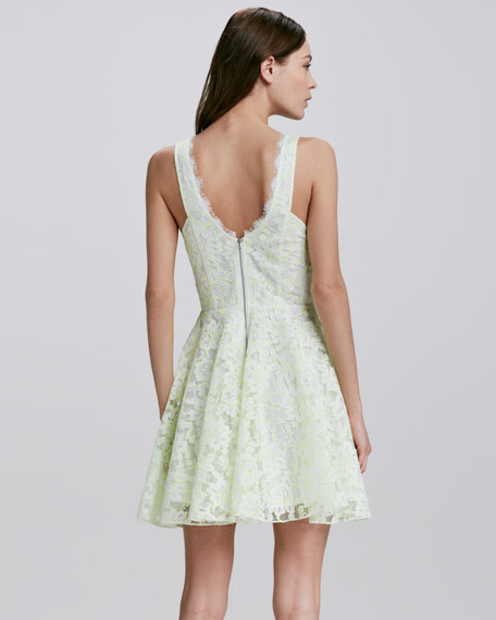 Thereza Neon Lace Dress