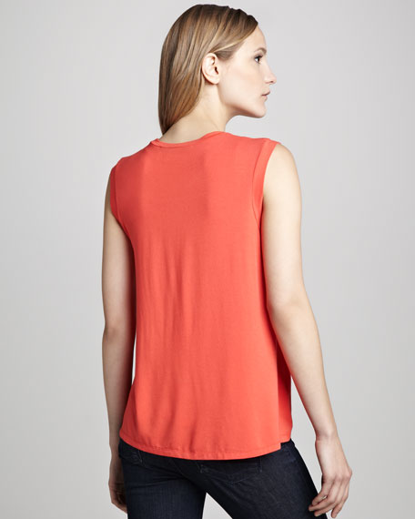 Heart-Cutout Loose Top