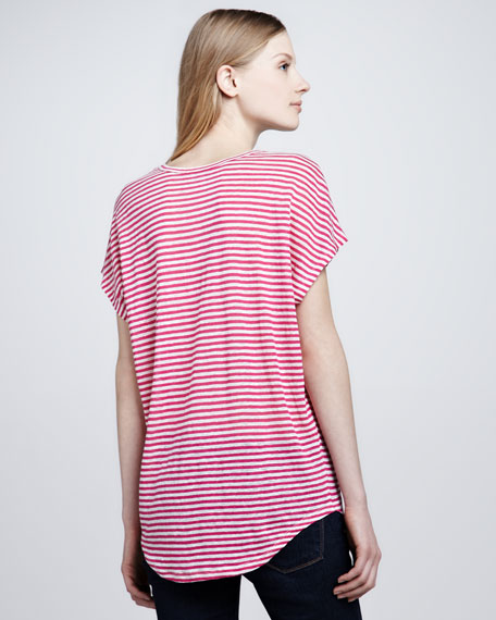 Maddie Striped Slub Top