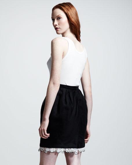 Malena Organza-Hem Skirt