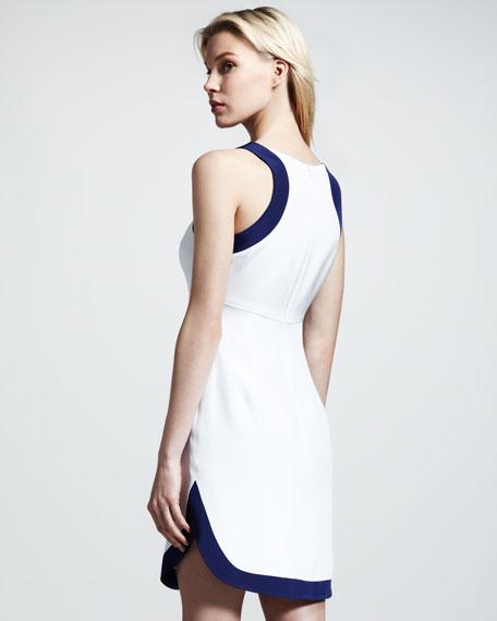 Brita Colorblock Crepe Dress