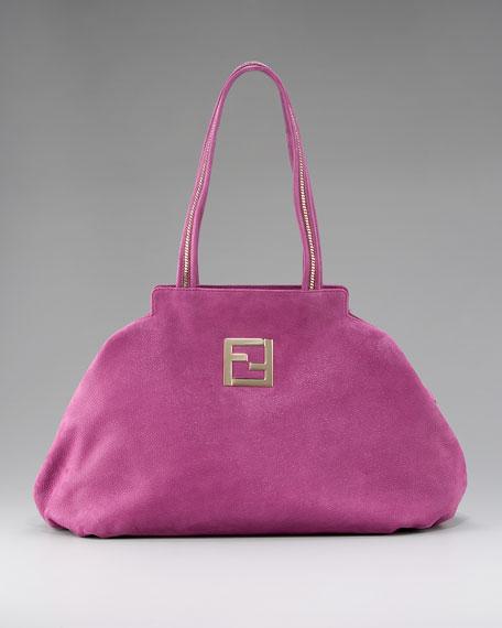Chain-Trim Shoulder Bag