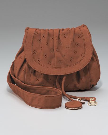 Gavi Perforated Leather Crossbody Bag
