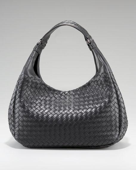 Woven Leather Ball Bag