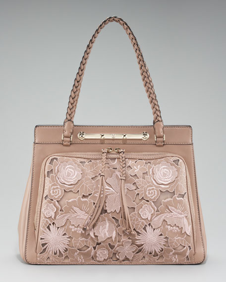 Leather Lace Demetra Bag