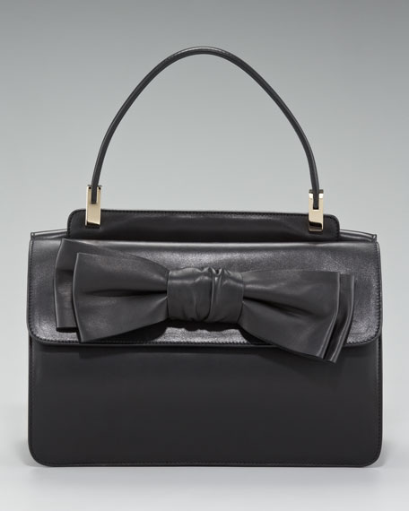 Aphrodite Leather Bow Bag, Small