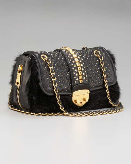 Napa Borchie Studded Lambskin Chain Bag