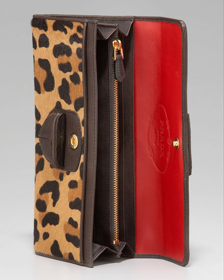 Prada Leopard-Print Wallet