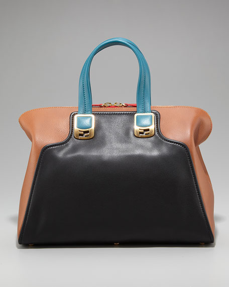 Colorblock Chameleon Satchel