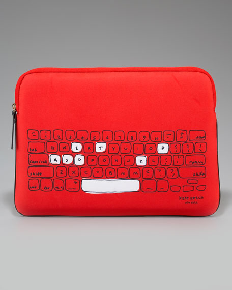 printed neoprene laptop sleeve, 15""