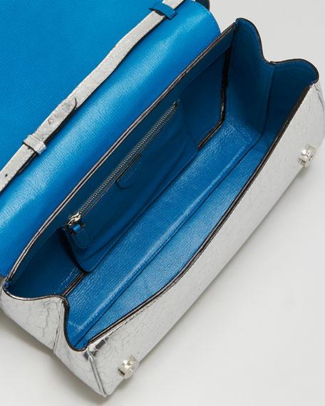 Goldie Crocodile-Embossed Shoulder Bag