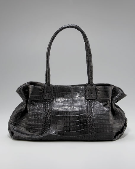 Matte Crocodile Doctor Bag