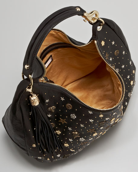 Solar Studded Hobo Bag