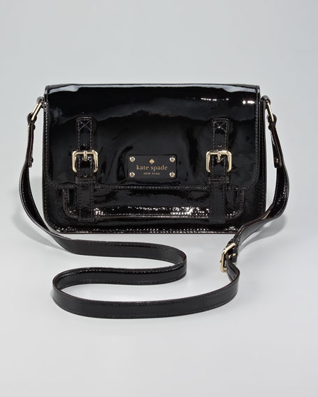 patent leather scout crossbody bag