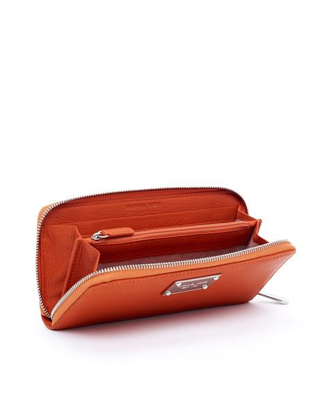 Jet Set Continental Wallet, Burnt Orange