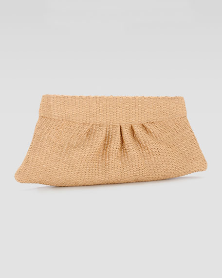 Louise Raffia Clutch Bag