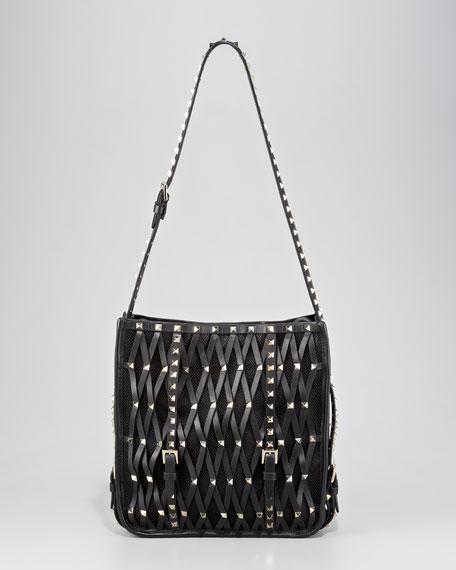 Rockstud Net Hobo Bag