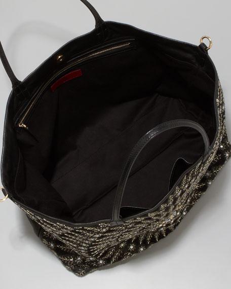 Beaded Glamorous Tote Bag