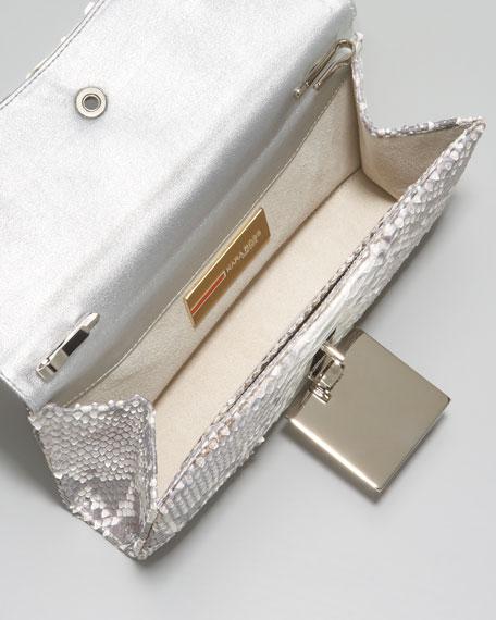 Celina Python Clutch Bag