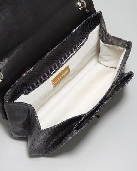 Urbana Python Shoulder Bag, Berry