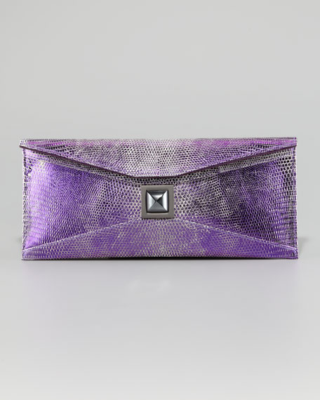 Prunella Lizard Clutch Bag