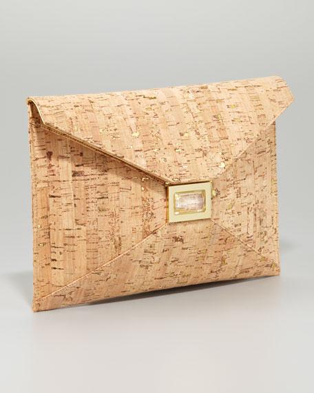 Prunella Cork Clutch Bag, Large