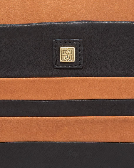 Pissa Striped Lambskin Clutch Bag