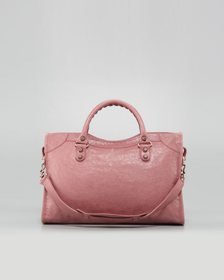 Giant 12 Rose Golden City Bag, Rose Bruyere