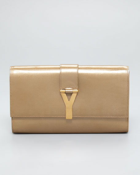 "Perforated Leather ""Y"" Clutch Bag"