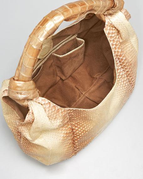 Crocodile & Python Hobo Bag