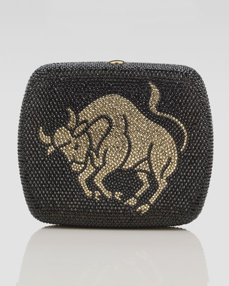 Rounded Square Zodiac Minaudiere, Gemini, Taurus, or Cancer