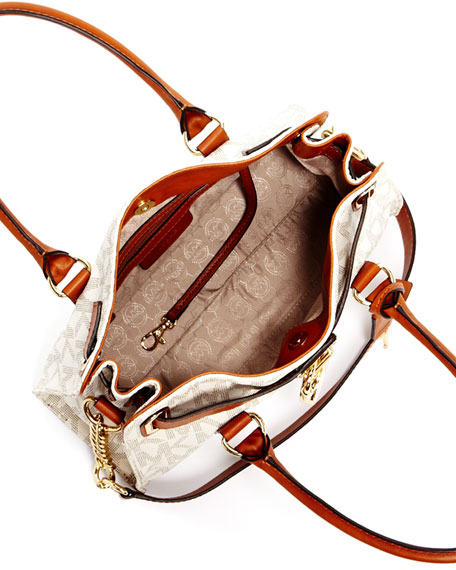 Hamilton MK Logo Satchel Bag, Vanilla