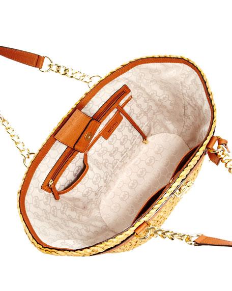 Hamilton Large Straw Tote Bag, Luggage
