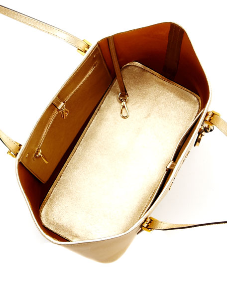 Jet Set Small Travel Tote Bag, Gold