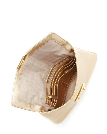 Sloan Clutch Bag, Pale Gold