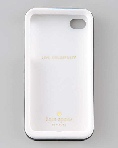 Golden Diagonal Stripe iPhone 4 Hard Case
