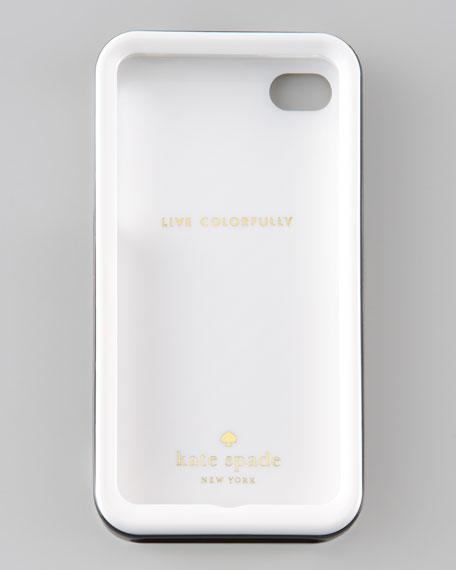 kate spade new york Golden Diagonal Stripe iPhone 4 Hard Case